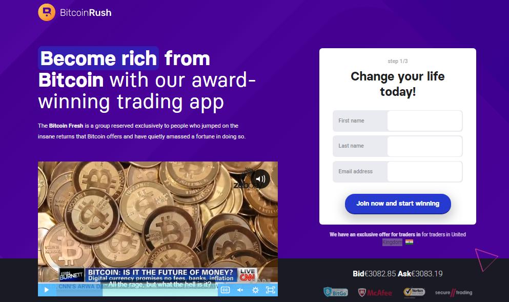 rush bitcoin bitcoin creare nuovo account